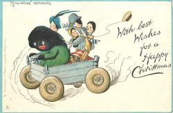 "WITH BEST WISHES FOR A HAPPY CHRISTMAS, ""GOLLIWOGG"" MOTORING"