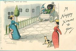 "A HAPPY XMAS TO YOU, ""GOLLIWOGG'S"" AUTO-GO-CART"
