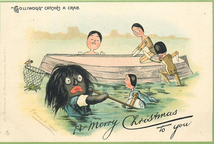 """GOLLIWOGG"" CATCHES A CRAB  A MERRY CHRISTMAS TO YOU,"
