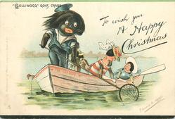 "TO WISH YOU A HAPPY CHRISTMAS, ""GOLLIWOGG"" GOES CRABBING"