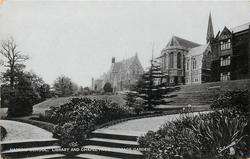 LIBRARY AND CHAPEL FROM TERRACE GARDEN