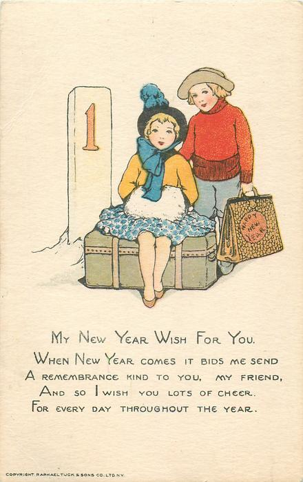 MY NEW YEAR WISH FOR YOU. WHEN NEW YEAR COMES IT BIDS ME SEND A REMEMBRANCE KIND TO YOU, MY FRIEND//THROUGHOUT THE YEAR