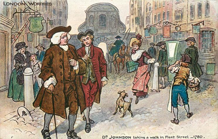 DR. JOHNSON TAKING A WALK IN FLEET STREET, 1780