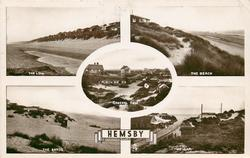 5 insets  THE LOW/THE BEACH/GENERAL VIEW/THE SANDS/THE GAP