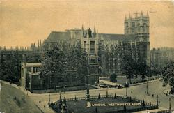 WESTMINSTER ABBEY  mid-distant view