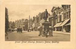 BROAD STREET SHOWING PALMER'S STATUE
