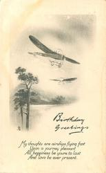 BIRTHDAY GREETINGS    two pioneer aircraft