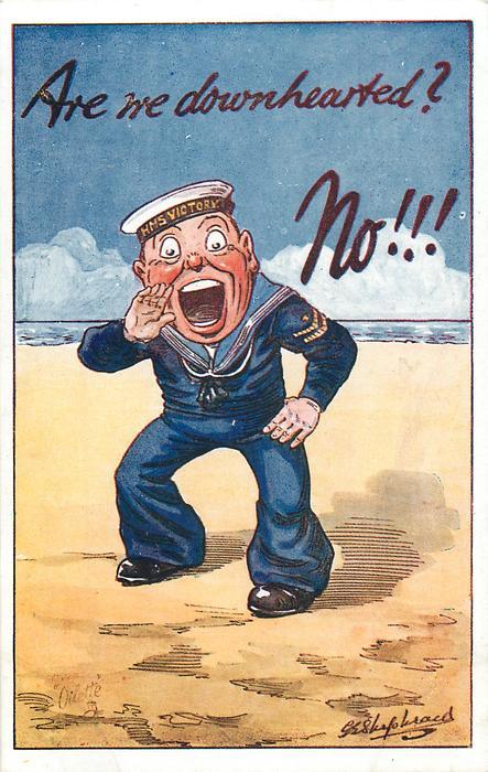 sailor - H.M.S. VICTORY on cap