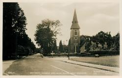 GRAYSHOT CHURCH AND CROSS ROADS, NEAR HINDHEAD
