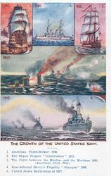 THE GROWTH OF THE UNITED STATES NAVY  five insets & titles