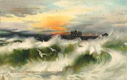 A ROUGH SEA OFF THE NORTH PIER