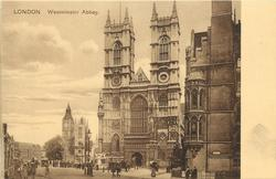 WESTMINSTER ABBEY two clock towers in view