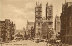WESTMINSTER ABBEY one clock tower in view