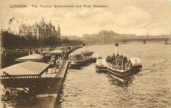 THE THAMES EMBANKMENT AND RIVER STEAMERS