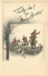 TALLY-HO! FOR A MERRY CHRISTMAS  fox-hunting