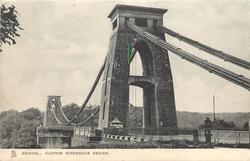 CLIFTON SUSPENSION BRIDGE  close up of upper part of bridge