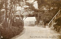 RUSTIC BRIDGE, BOSCOMBE GARDENS