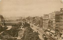 PRINCES STREET FROM SCOTT MONUMENT