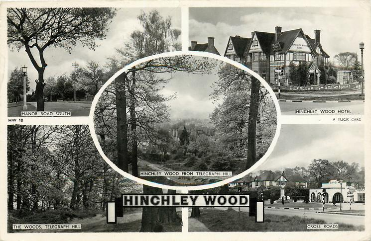 5 Insets Manor Road South Hinchley Wood Hotel From Telegraph Hill The Woods Cross Roads