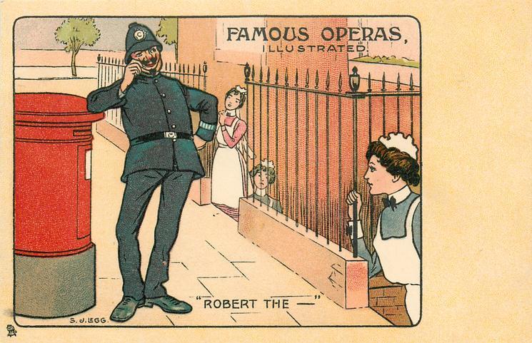"""ROBERT THE-""  cartoon of London policeman"