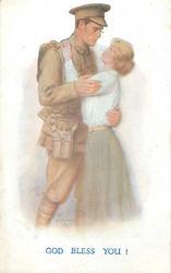 GOD BLESS YOU!  soldier & beloved embrace