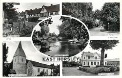 5 insets STATION ROAD/OCKHAM ROAD/PENNYMEAD POND/WEST HORSLEY CHURCH/THE HORSLEY HOTEL