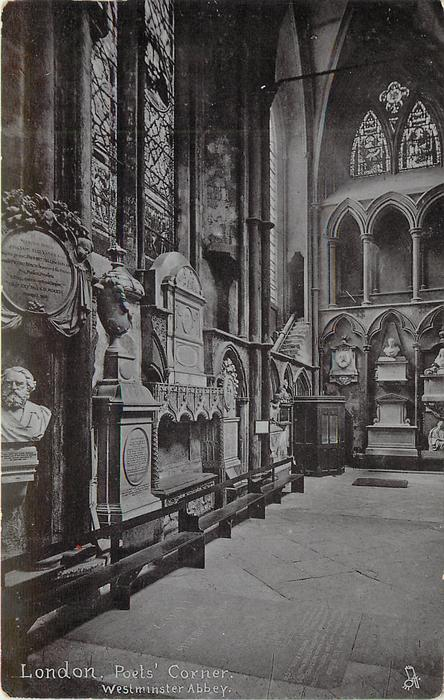 POETS' CORNER, WESTMINSTER ABBEY