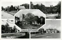5 insets HILL ROAD/THE MANOR HOTEL/THE CHURCH/ST. MICHAEL'S SCHOOL/THE MAIN ROAD
