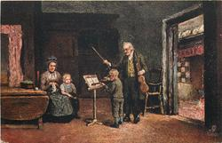 THE GENIUS OF THE FAMILY  violin lesson