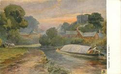 """SUNSET ON THE CANAL."""
