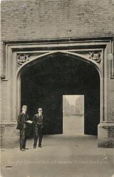 INTERIOR ARCH OF ENTRANCE TO QUADRANGLE
