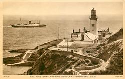 S.S. KING ORRY PASSING DOUGLAS LIGHTHOUSE