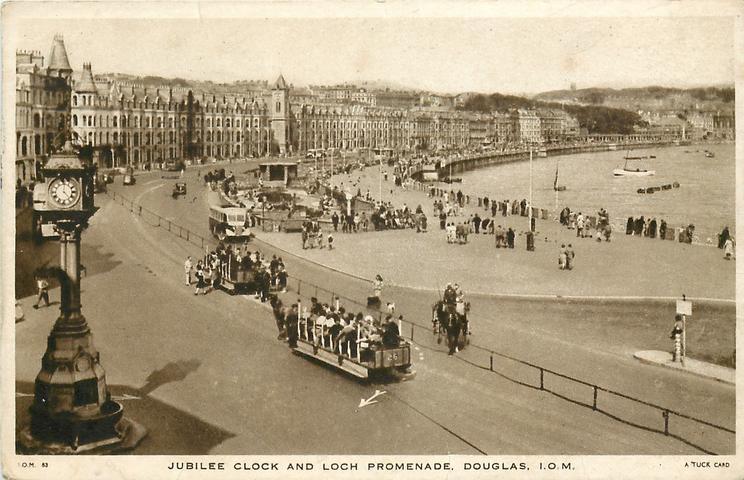 JUBILEE CLOCK AND LOCH PROMENADE, DOUGLAS, I.O.M.