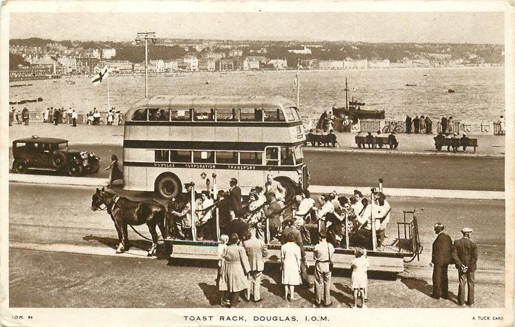 TOAST RACK,DOUGLAS, I.O.M. and bus