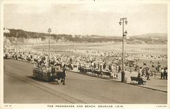 THE PROMENADE AND BEACH, DOUGLAS, I.O.M.
