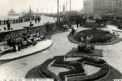 "THE ""LEGS OF MAN"" FLOWER BED, DOUGLAS or PROMENADE AND GARDENS. DOUGLAS, I.O.M."