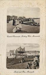 CENTRAL PROMENADE, LOOKING WEST, MORECAMBE//SANDS AND PIER, MORECAMBE