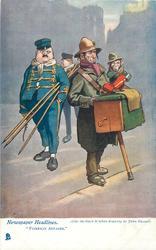 """FOREIGN AFFAIRS.""  street musician & monkey"