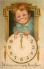 WISHING YOU A HAPPY NEW YEAR  insert of boy's face above clock  image^^^