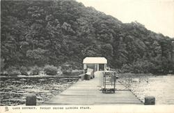 POOLEY BRIDGE LANDING STAGE view down pier from end