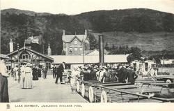 AMBLESIDE STEAMER PIER  view from land