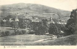 AMBLESIDE  distant view of church & village