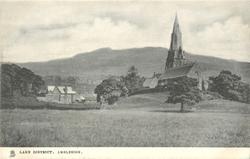 AMBLESIDE  mid-distant view of church