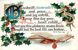 GOODWILL AND PEACE, AND JOY UNTOLD ...
