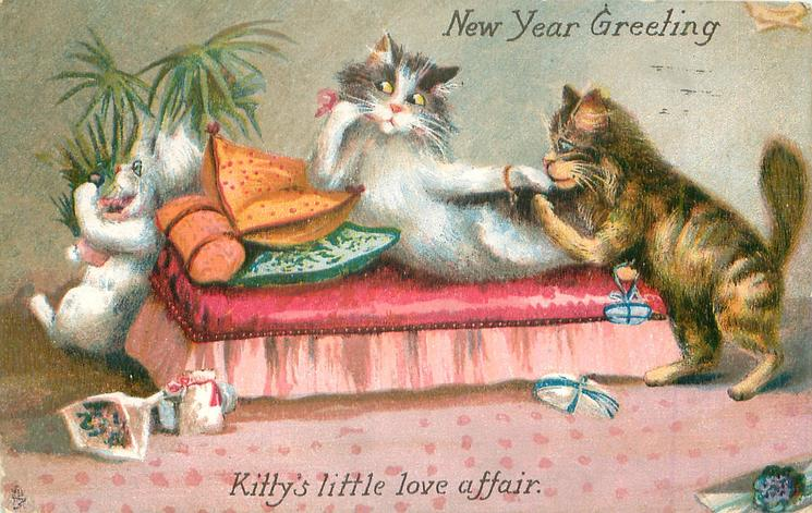 NEW YEAR GREETING, KITTY'S LITTLE LOVE AFFAIR