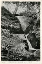 THE WATERFALL AND BRIDGE, GLEN MAYE, I.O.M.