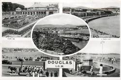 DOUGLAS I.O.M., 5 insets THE VILLA MARINA/LOCH PROMENADE/DOUGLAS/TOAST RACK/THE FOUNTAIN