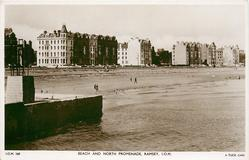 BEACH AND NORTH PROMENADE, RAMSEY, I.O.M.