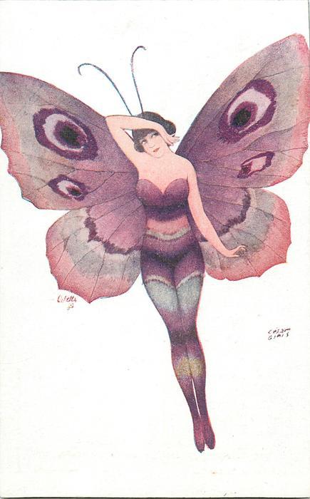 girl in purple, facing forward