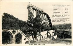 THE BIG WHEEL, LAXEY, I.O.M.  much imformation on front of card